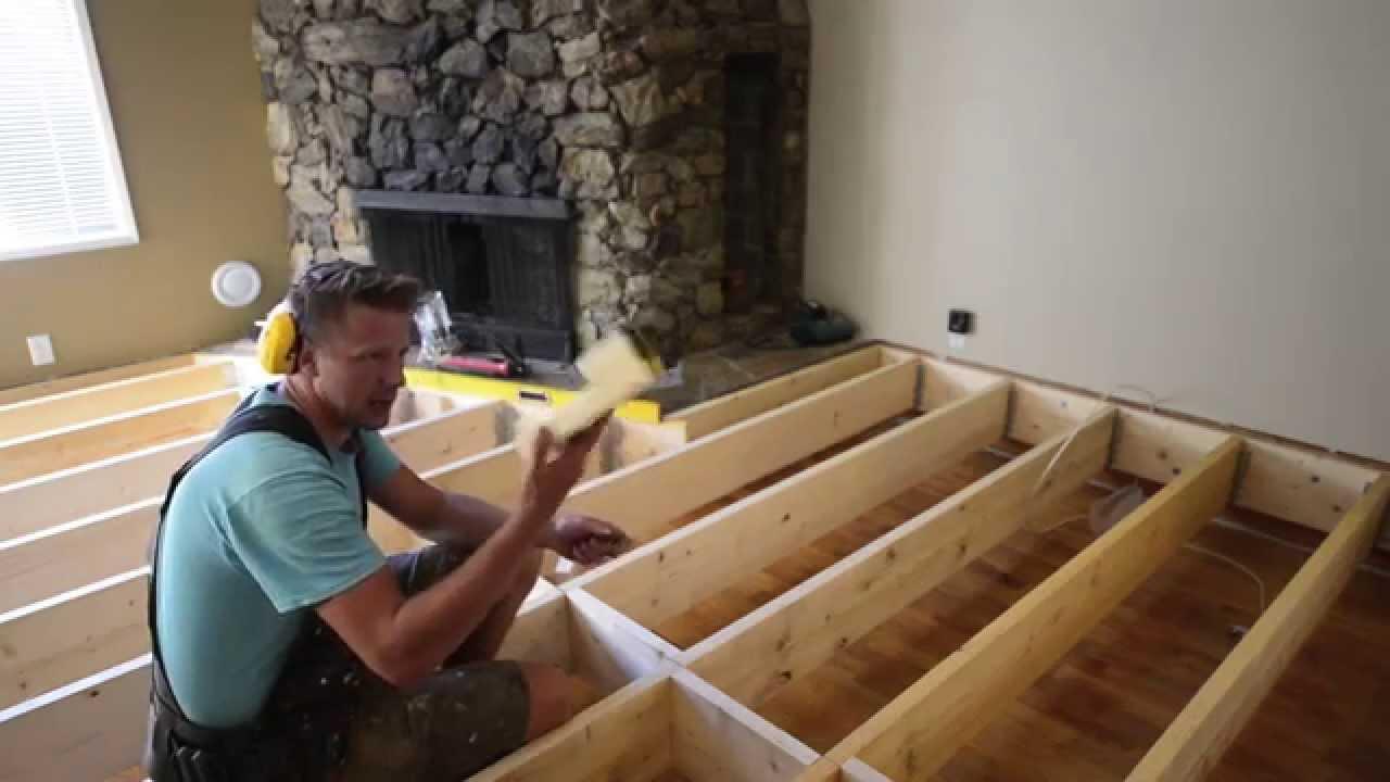 How To Fill In A Sunken Living Room The Samurai Carpenter